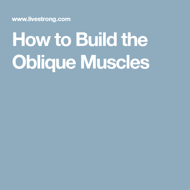 How to Build the Oblique Muscles | Abdominal exercises ... Oblique Exercises Abe
