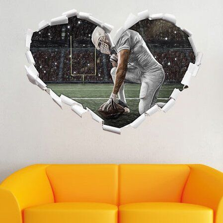 Wall sticker kneeling football player with colored pencil effect East Urban Home size: 64.5 cm H x 92 cm W x 0.02 cm D  - Products - #colored #East #Effect #Football #Home #kneeling #pencil #Player #Products #size #sticker #Urban #wall