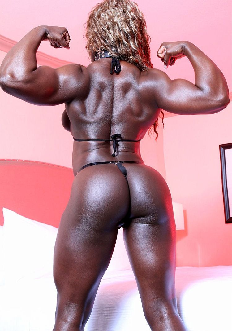 Black Female Bodybuilder Muscle Ass Woman  Sexy Black -3638