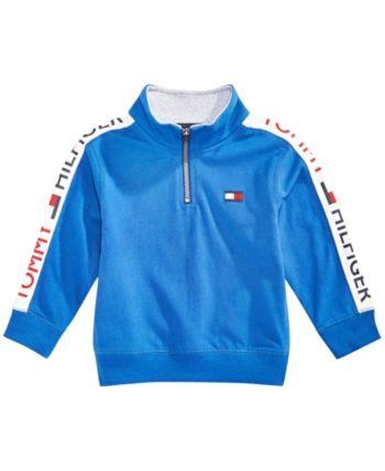 7be1bb301038e Tommy Hilfiger Baby Boys Cotton Half-Zip Sweatshirt - Blue 12M ...