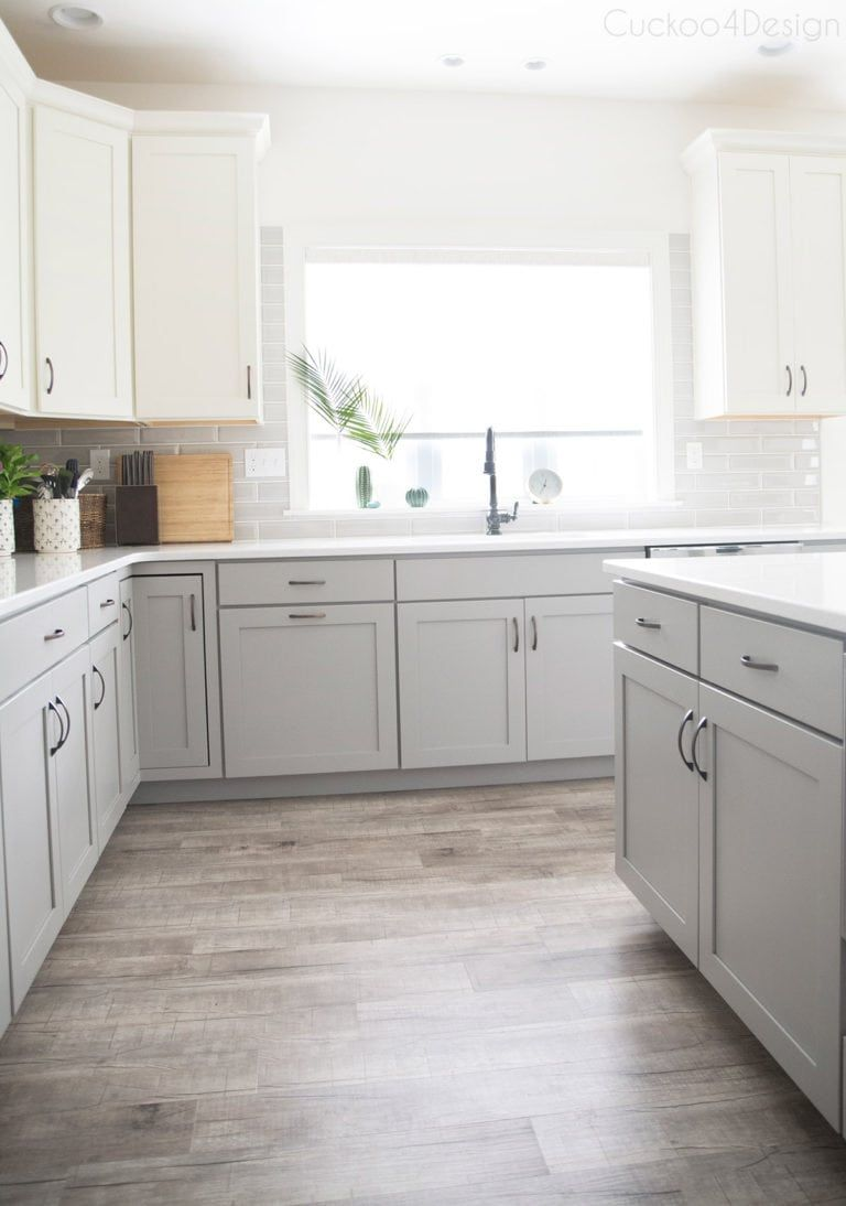 My friends gorgeous gray and white kitchen | Cuckoo4Design