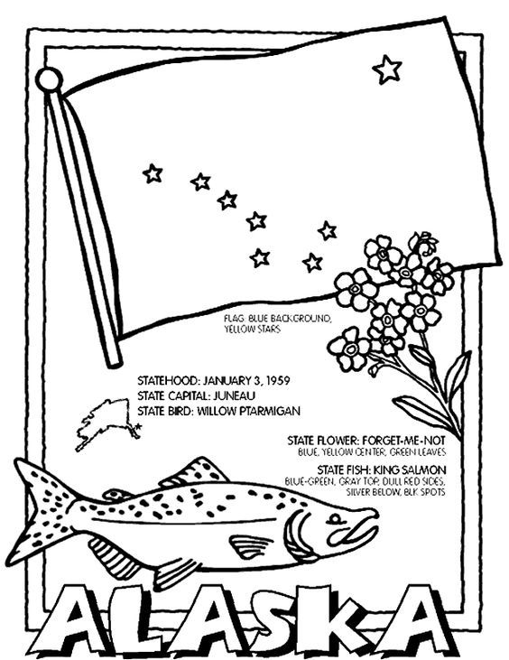 Alaska Map Coloring Page Free Printable Coloring Pages Map Collage