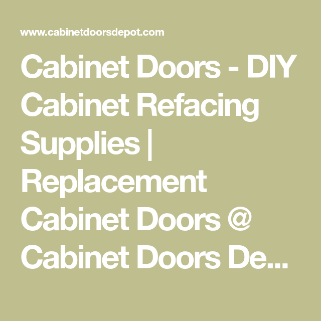 Cabinet Refacing Home Depot: DIY Cabinet Refacing Supplies