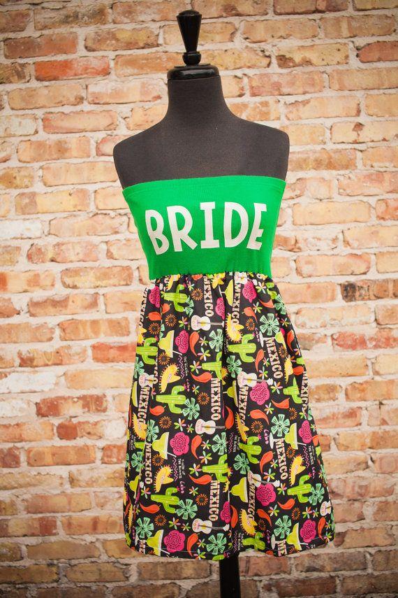 Hot Mamacita BRIDE DressGreen Mexico Sm/Med by thearmorofGod, $49.00 offbeat bride dress, honeymoon