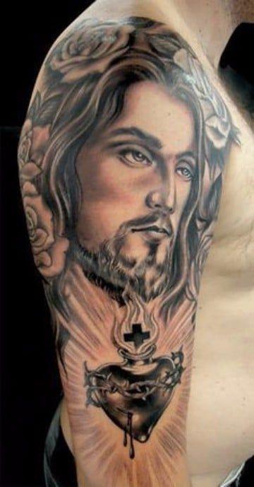 Religiosos Tatuajes Del Sagrado Corazon De Jesus Tatuajes En El
