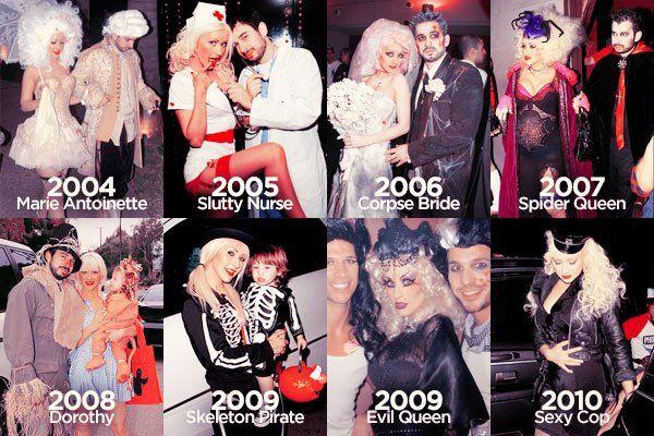 christina aguilera costume timeline - Christina Aguilera Halloween