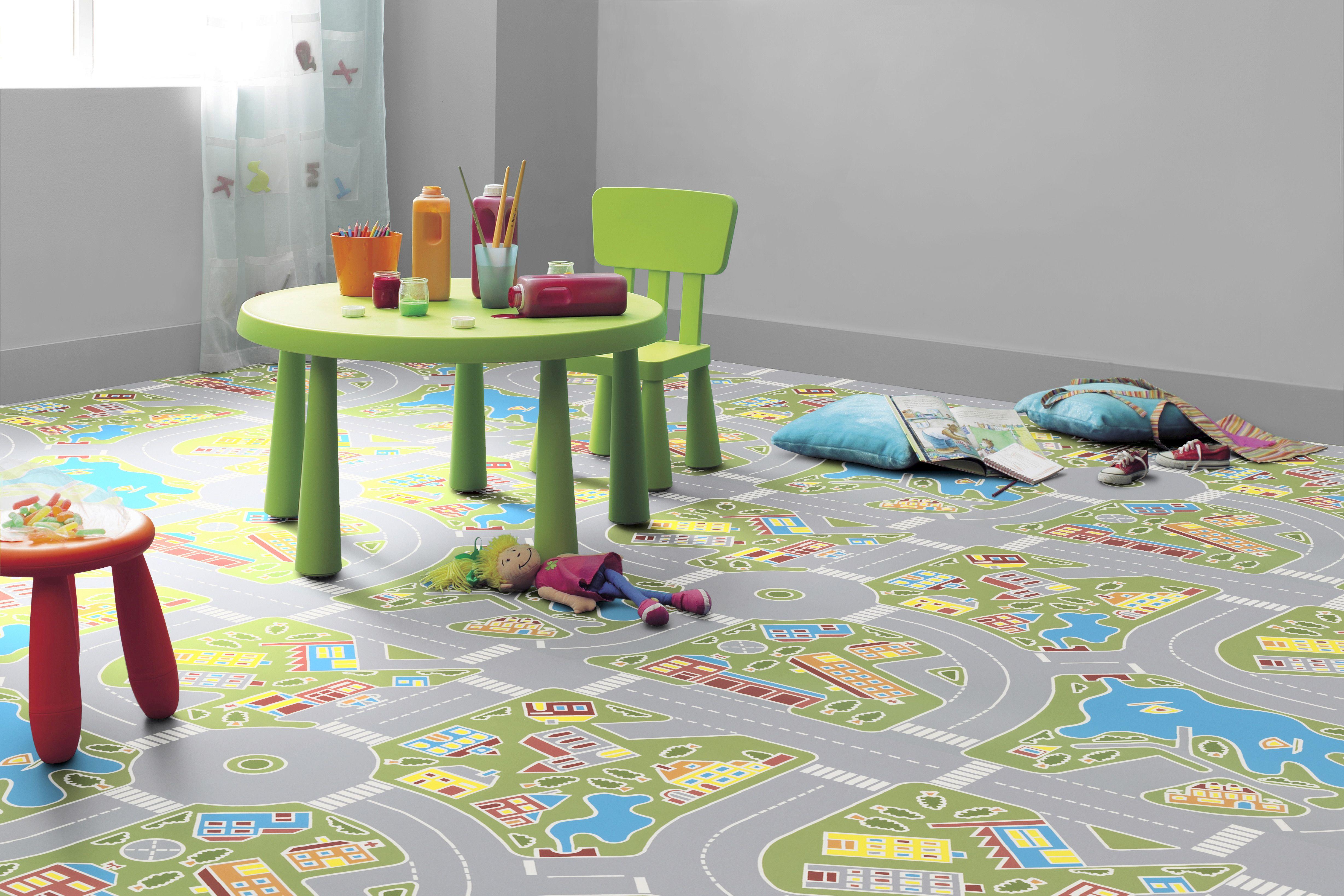 Sol Pvc Circuit Garcon Tarkett 2 M Idee Deco Chambre Enfant Idee Salle De Jeux Chambre Enfant