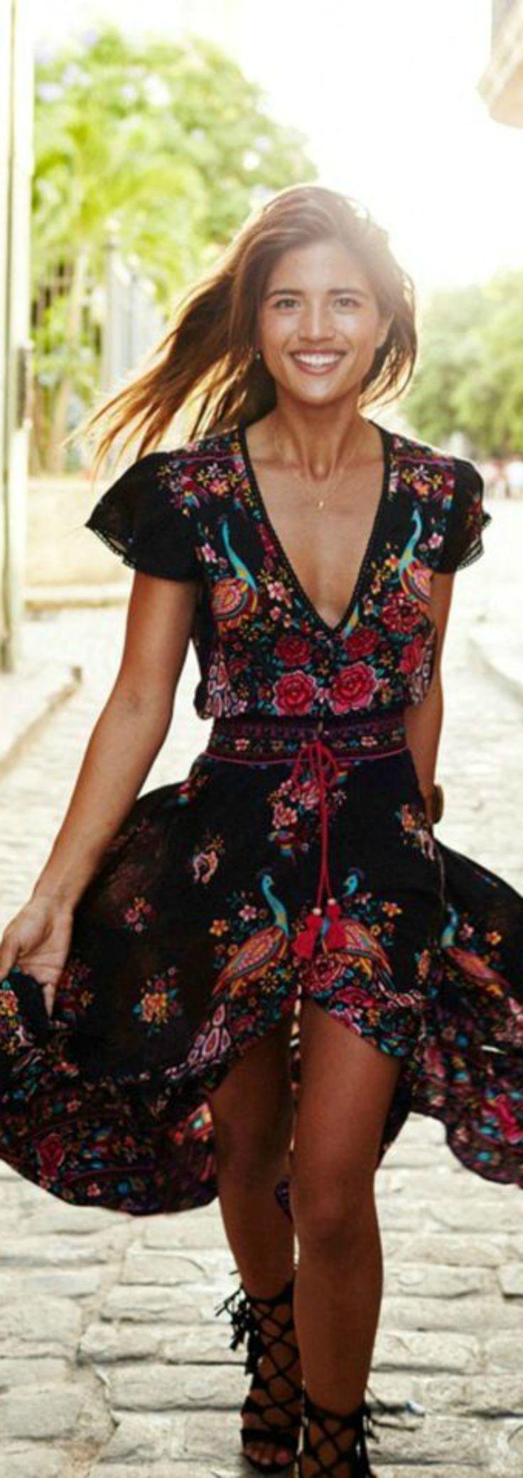 flores women 39 s fashion boho kleid hochzeit gast boho. Black Bedroom Furniture Sets. Home Design Ideas