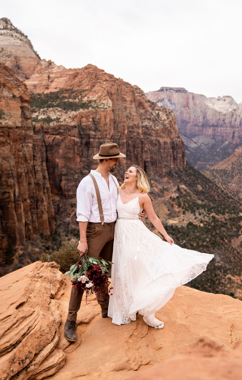 Zion National Park Adventurous Elopement Utah Wedding Photography Boho Couple In 2020 Boho Wedding Inspiration Utah Weddings Elopement