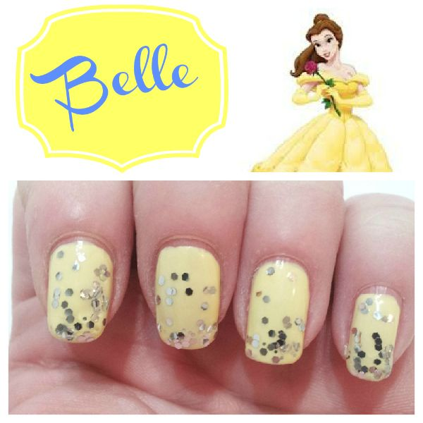 Disney Princess Inspired Nails | Hairspray, Belle nails and Belle