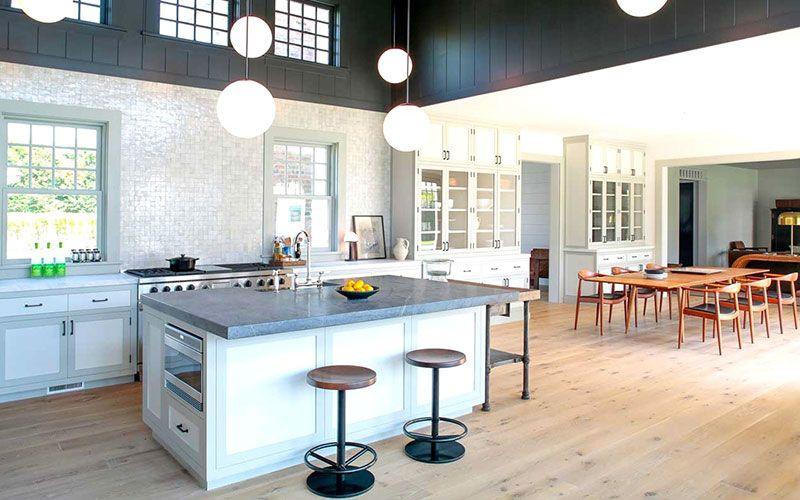 Parquet roble en cocina americana tarima en cocinas - Tarima para cocina ...