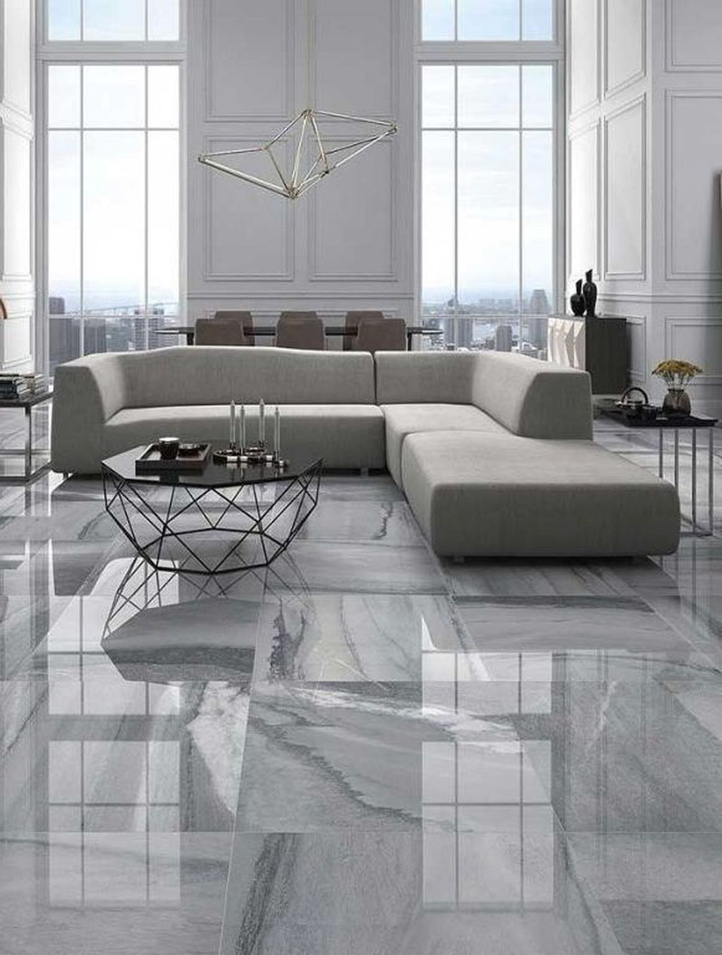 31 Chic Living Room Design Ideas With Floor Granite Tile To Have Chic Living Room Design Living Room Tiles Floor Design Living room tile flooring