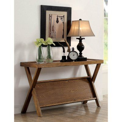 Swell Furniture Of America Catalina Rustic Angled Shelf Console Gmtry Best Dining Table And Chair Ideas Images Gmtryco