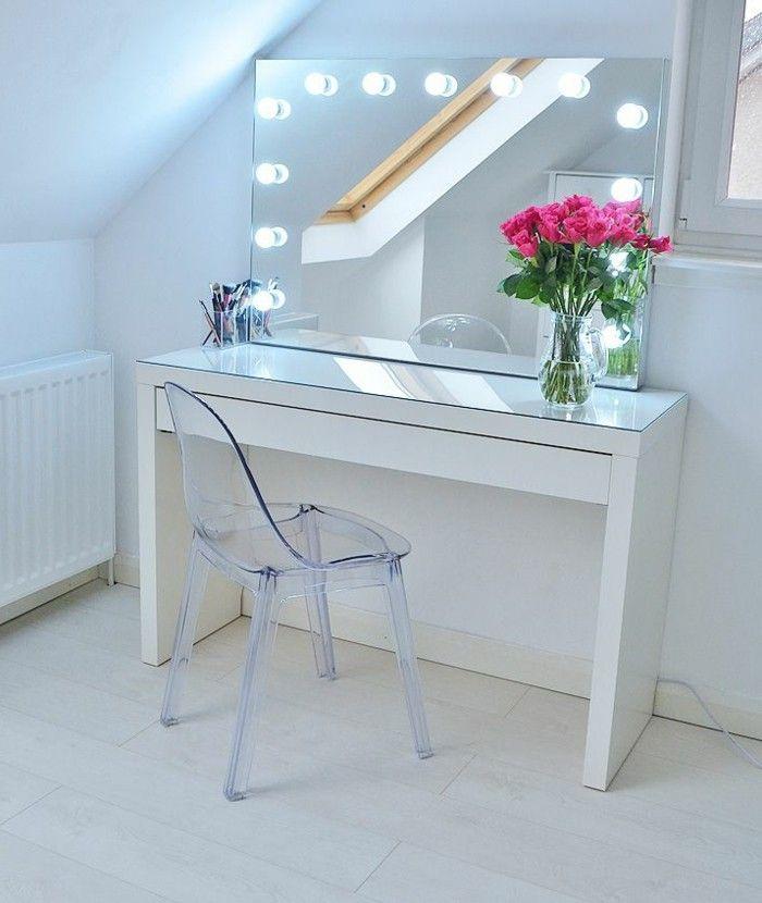 Redoutable miroir lumineux chambre d coration fran aise ikea makeup vanity malm dressing - Ikea miroir chambre ...