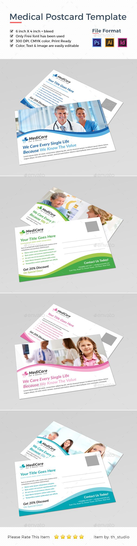 Medical Postcard Template   Postcard template, Ai illustrator and ...