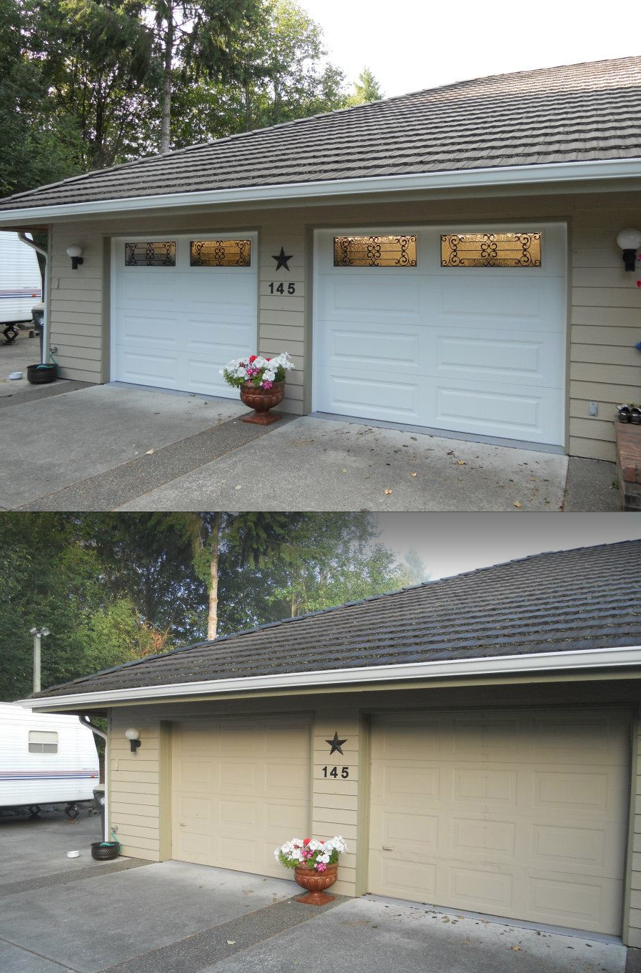 Pin By Hung Right Doors On Before Amp After Garage Door