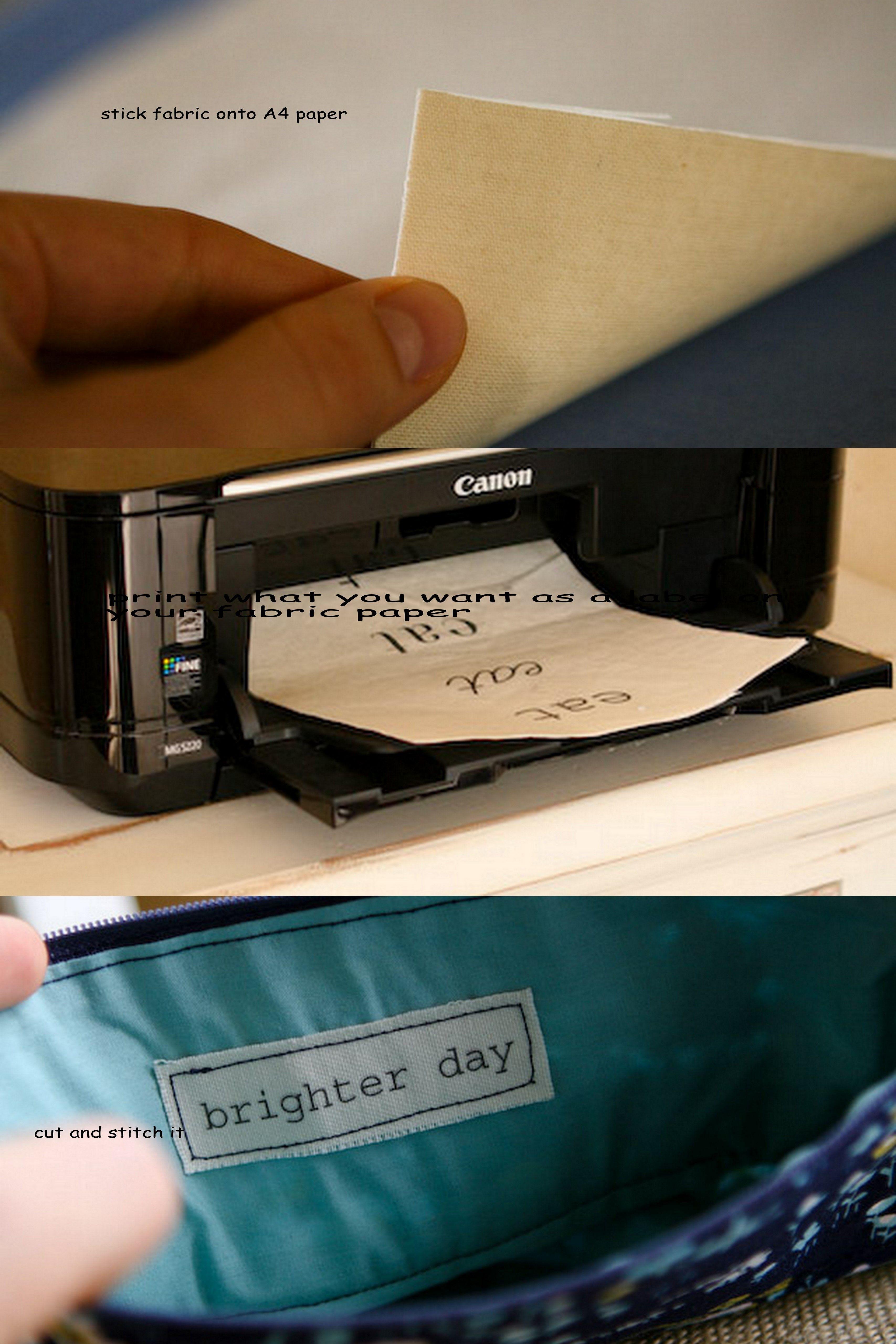 how to make fabric Labels   creativity   Pinterest   Nähideen ...