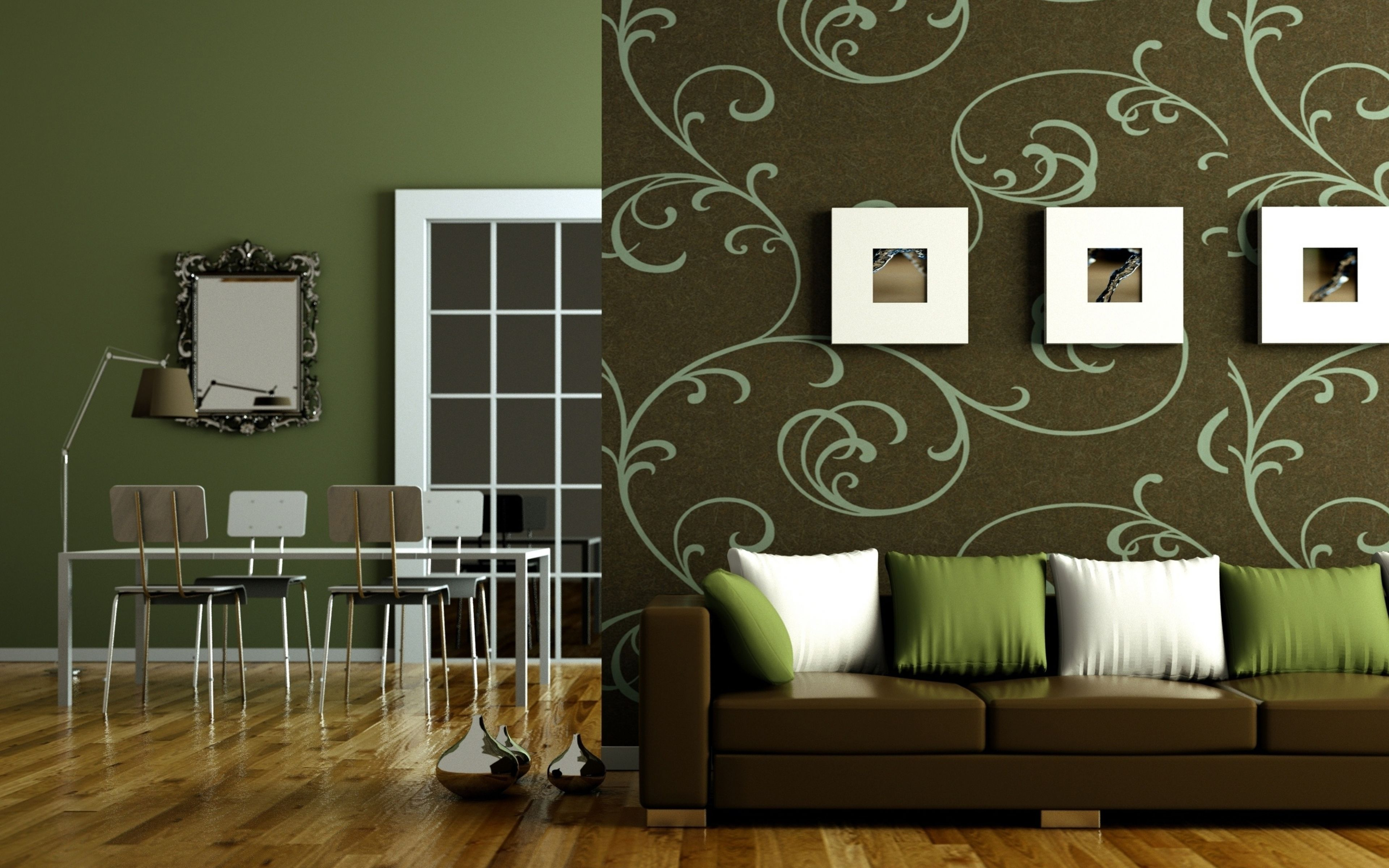 Best Painting Ideas For Living Room Interior Decoration As Wallpaper Background On Dark Green Wallpaper Interior Design Living Room Green Living Room Interior