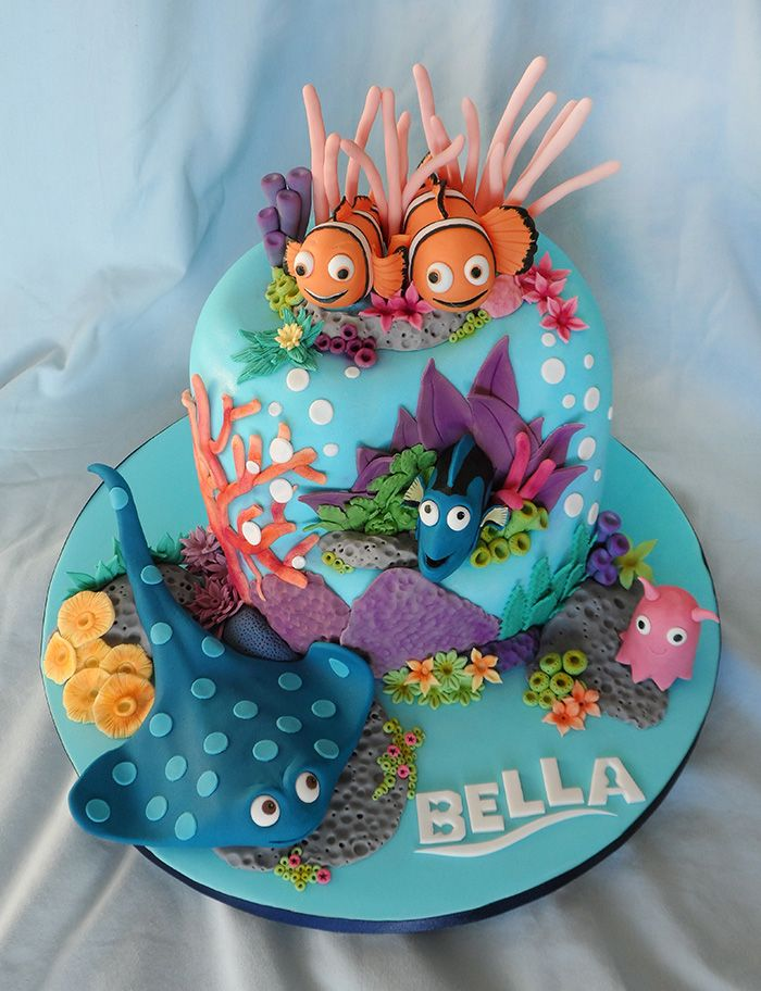 24 Of The Best Disney Cake Ideas Ever Finding nemo cake Nemo