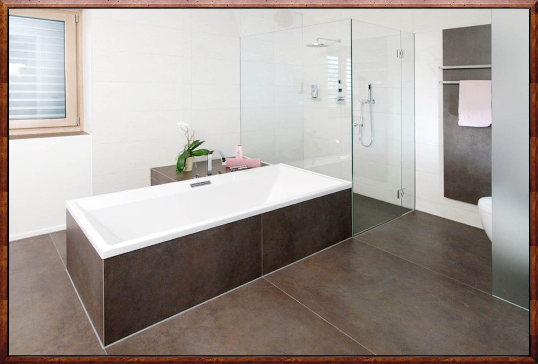 Badezimmer Braune Fliesen