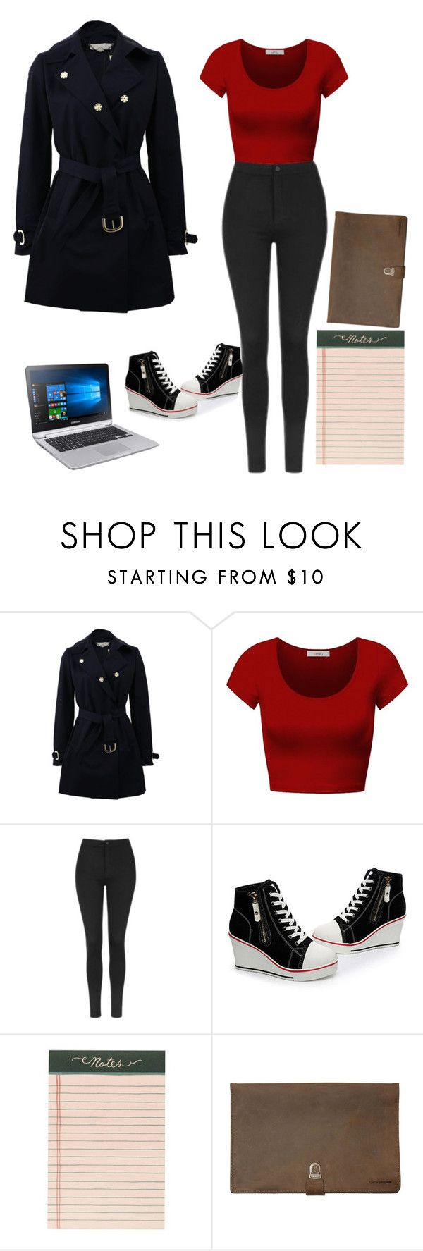 """""""Meeting~Davina"""" by coffeeismysoul ❤ liked on Polyvore featuring STELLA McCARTNEY, DK, Topshop, Rifle Paper Co and Kjøre Project"""