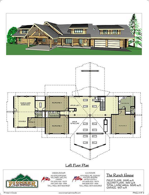 Log Home And Log Cabin Floor Plans Pioneer Log Homes Of Bc Handcrafted Log Homes Log Cabin Floor Plans Ranch House Cabin Floor Plans