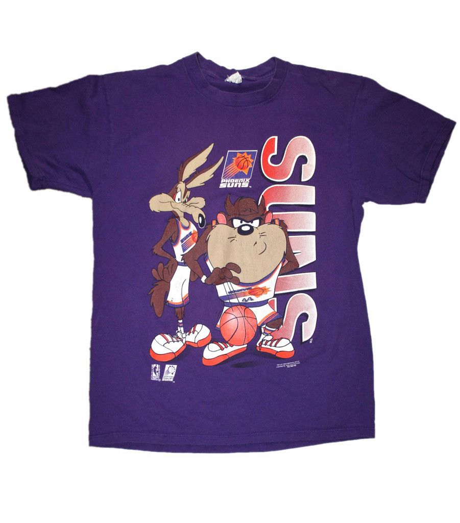 9feed3b48ffbe4 Vintage 1993 Phoenix Suns Looney Tunes NBA Shirt Mens Size Large  28.00
