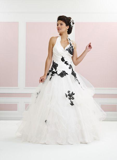 robe de mari e noir et blanche tati. Black Bedroom Furniture Sets. Home Design Ideas