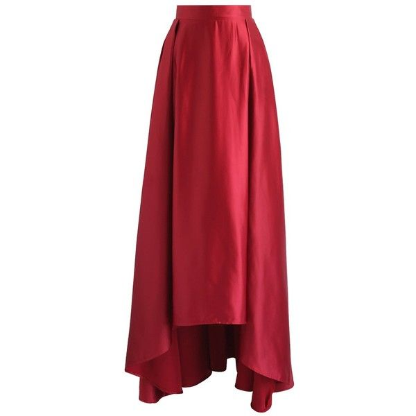 60e86e431 Chicwish Walk on the Red Carpet High Low Maxi Skirt in Red ($55 ...