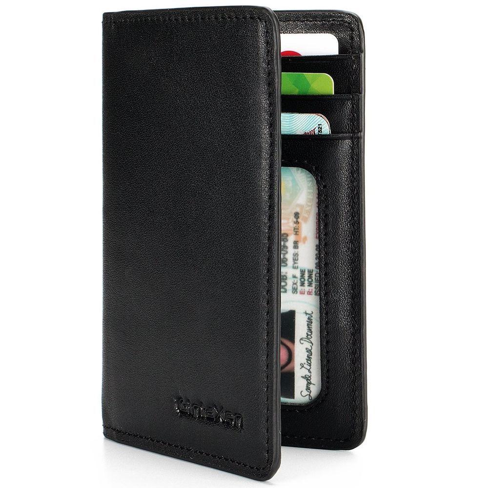 Slim Leather ID/Credit Card Holder Bifold Front Pocket