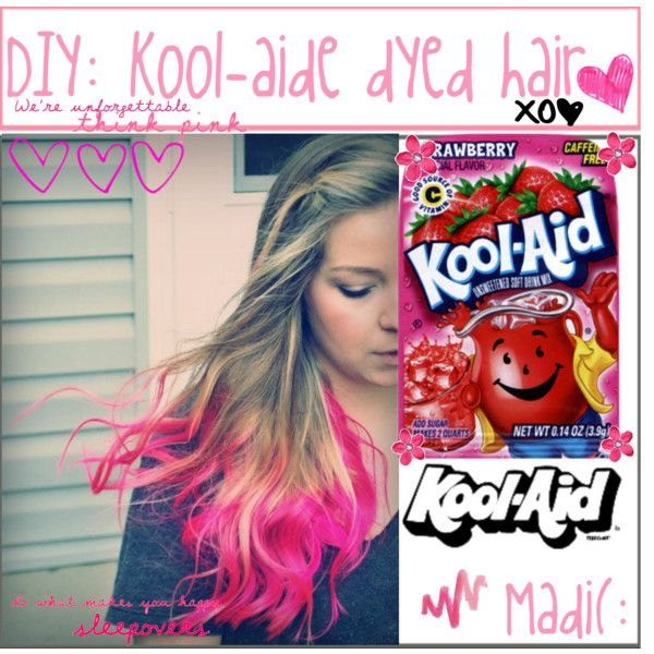 diy kool-aide dyed hair beauty