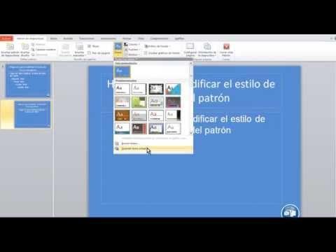 cómo crear una plantilla o tema en powerpoint 2010 - tutorial, Powerpoint templates