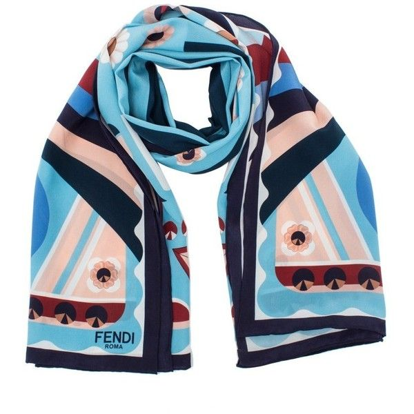 807631a741 Fendi Flowers Scarf ($350) ❤ liked on Polyvore featuring ...