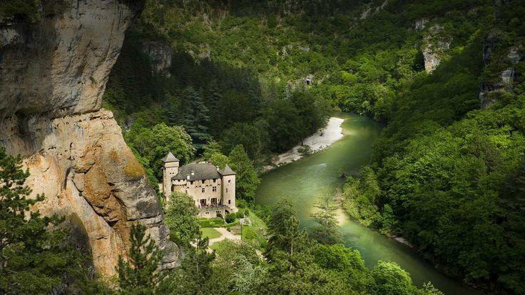 Chateau De La Caze Gorges Du Tarn Lozere Chateau Gorge Du Tarn