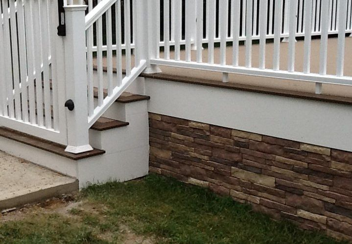 Exceptionnel Deck Skirting With Faux Stone