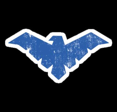 Sorry 410 Gone Nightwing Logo Sticker Stickers