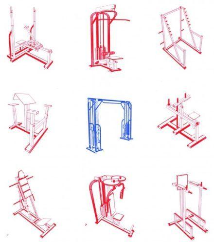 Projetos Detalhados De Aparelhos De Academias Veja Em Detalhes No