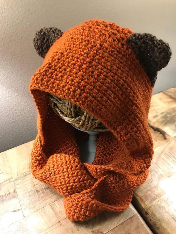 Ewok Inspired Scoodie | crochet libo | Pinterest