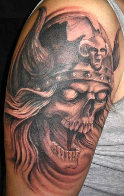 Viking Tattoo on half sleeve - http://tattootodesign.com ...