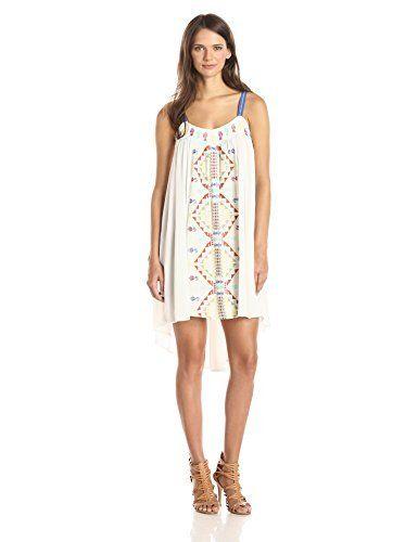 644b9b96e3f Hazel Women s Sleeveless Trapeze Dress with Aztec Embroidery