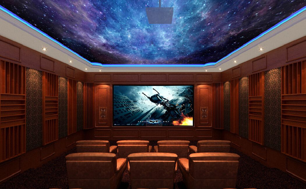 Home Theater Living Room Wallpaper Home Theater Design Home Theater Basement Design