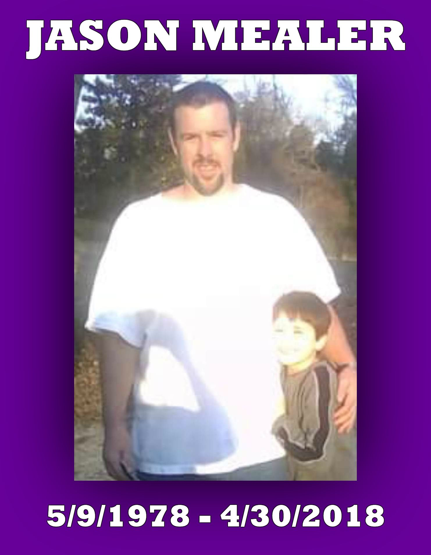 Jason Mealer JasonMealer Overdose awareness, Face, Jason