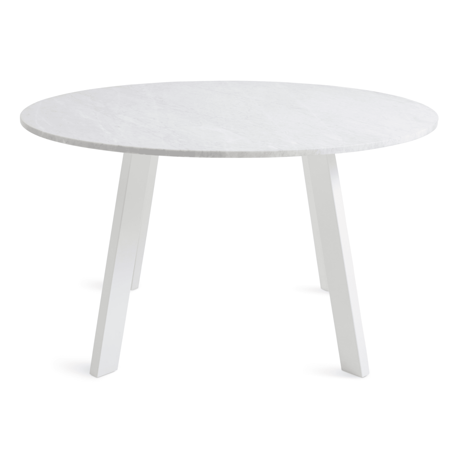 Right Round 52 Marble Dining Table White Round Dining Table