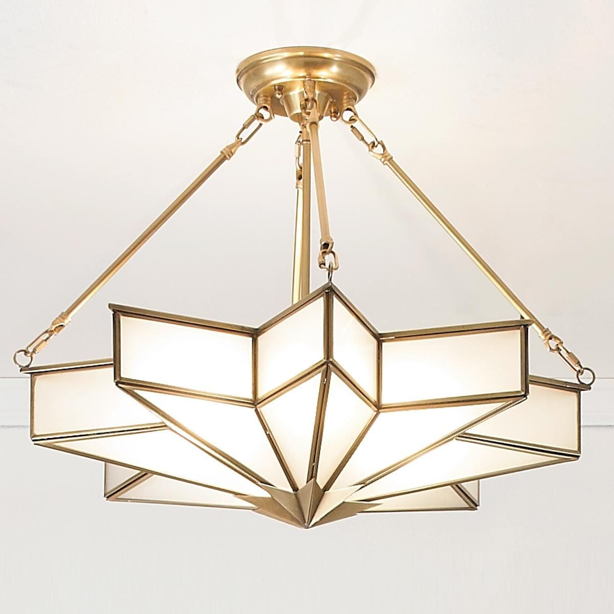 Frosted Gl Star Chandelier