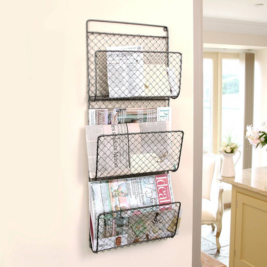 Family Room Wall Mounted Mail Sorter