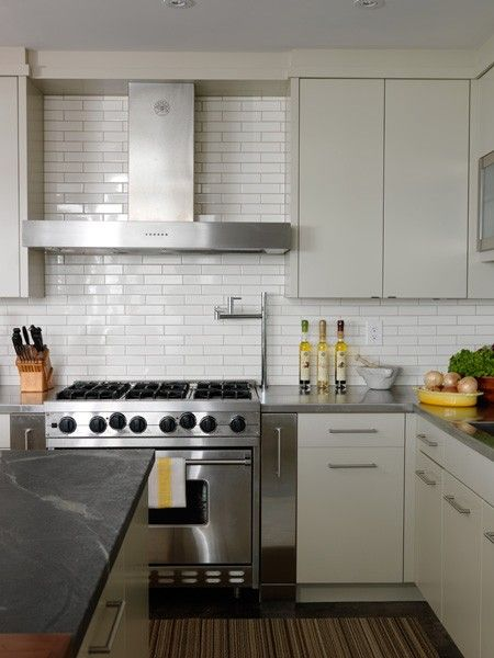 I Love The Tile And White Cabinets In This Kitchen Kitchen