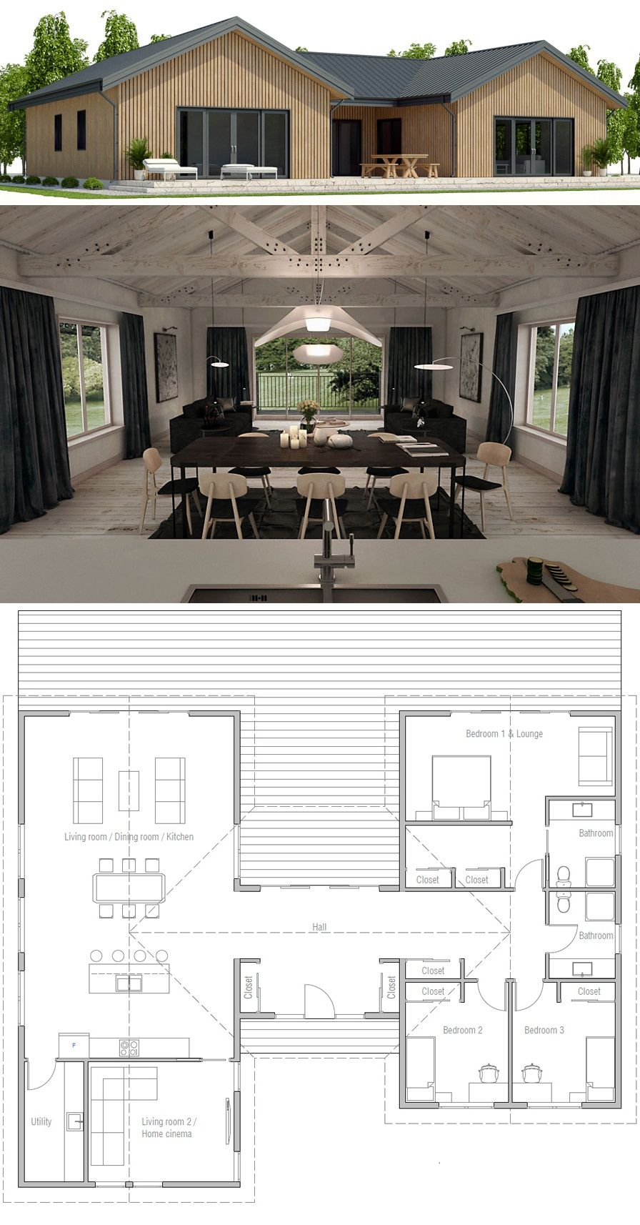 Small House Plan | tiny houses | Pinterest | Small house plans ...