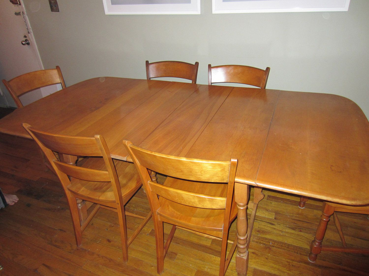 Heywood Wakefield table and chairs - Cushman Colonial buffet. $2,500.00,  via Etsy.