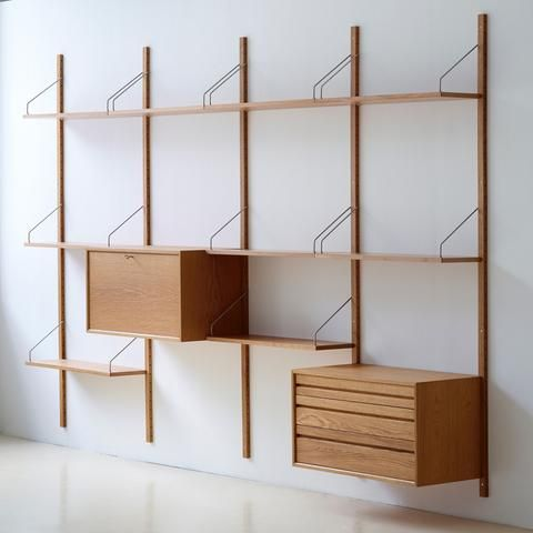 Royal System Shelving By Poul Cadovius Modern Shelving Wall