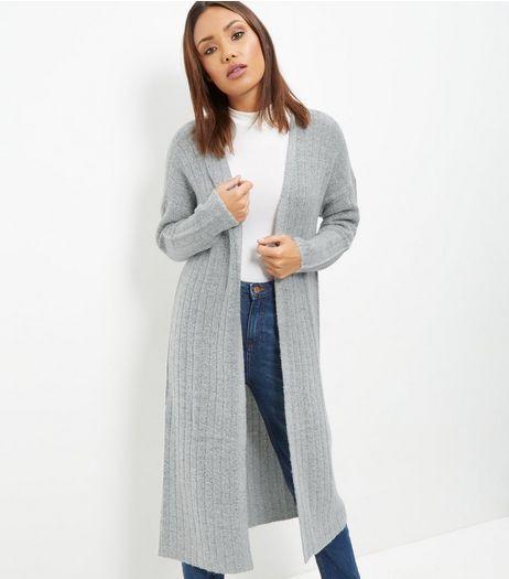 JDY Grey Longline Cardigan   New Look   Clothes   Pinterest ...